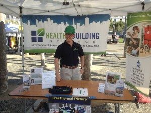 Cameron Das - Healthy Building Science Booth at Earth Day SF