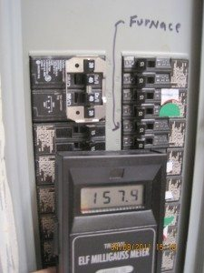 EMF Meter Should Detect Hot Spots - Magnetic Fields Near Electrical Panel